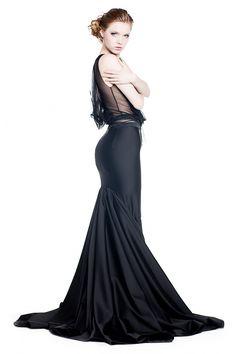 black evening dress designer Błażej Teliński https://www.facebook.com/pages/Błażej-Teliński/123315801076746 www.telinski.com