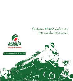 Estampa para bolsa ecológica locomotiva E.F.M.M.