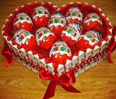 Herz aus Kinderschokolade
