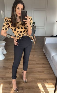 Business Casual Outfits For Women, Casual Work Outfits, Professional Outfits, Work Attire, Classy Outfits, Trendy Outfits, Cool Outfits, Fashion Outfits, Leopard Print Outfits