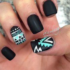 Mint, Silver and Matte Black Tribal