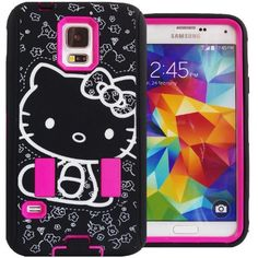 Cute Generic Hello Kitty Hybrid Women & Teen Girls Protector Case for Samsung Galaxy S5 Hot Pink Black & White Shockproof AntiShock Anti-Slip Bow Strong Girly Protective Skin Dual Layer Heavy Duty Non Slip 2 in 1 Silicone Rubber Gel & Slim Thin Hard Cover with Anti-Bubble Screen Protector & Stylus FREE GIFT HELLO KITTY PRINCESS KITTY STICKER Generic http://www.amazon.com/dp/B00MI2RTFM/ref=cm_sw_r_pi_dp_vUMYvb0FYVTXR
