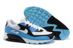 super popular dd577 01cb0 Shop For Sale 309299 129 Nike Air Max 90 White White Chlorine Blue Obsidian  black, grey, blue and more.