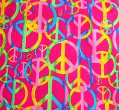 Peace Sign Fabric by the Yard by ThisandThatCrafter on Etsy Hippie Peace, Hippie Life, Peace Signs, Love Signs, Hippie Quotes Love, Tagalog Love Quotes, Quotes Quotes, Cool Patterns, Fun Projects