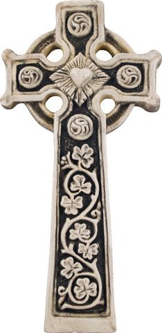 Celtic cross, there is a beautiful one on my grandparents grave.