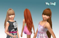 Ariana Ponytail for Girls at My Stuff via Sims 4 Updates