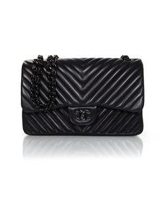 5edefa918557 Authentic Collectors Sold Out Chanel Chevron SO Black Double Flap Jumbo Bag