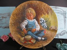 Little Boy Blue Collectors Plate 1980 Original Packaging Vintage Collectibles Mother Goose Series Artist John McClelland by TheStorageChest on Etsy