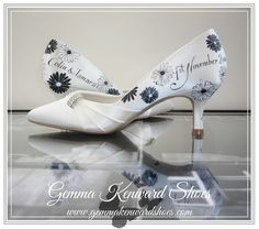 Hand painted wedding shoes and occasion shoes Gemma Kenward has painted for customers all over the world. Yellow Wedding Shoes, Silver Wedding Shoes, Cinderella Pumpkin Carriage, Occasion Shoes, Shoe Gallery, Hand Painted Shoes, Shoe Company, Bride Shoes, Custom Paint