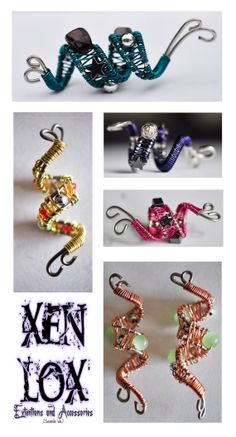 Dread Coils Pack of 5 Wire wrapped dread cuffs by XenLoxCreations, $18.00
