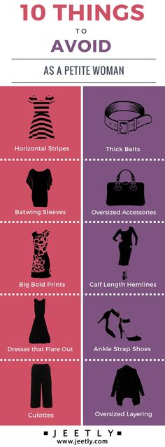 There are actually a few styles of clothes and shoes that look awful on you. If you're wondering what these petite styling don'ts are, here are the 10 things to avoid as a petite woman... #petite #styletips #fashion