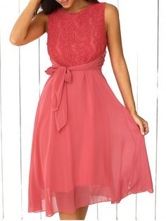 SHARE & Get it FREE   Sleeveless Lace Splicing DressFor Fashion Lovers only:80,000+ Items • New Arrivals Daily • FREE SHIPPING Affordable Casual to Chic for Every Occasion Join RoseGal: Get YOUR $50 NOW!