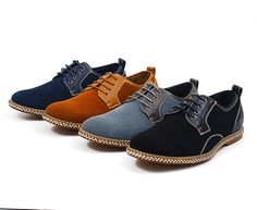 Mens Faux Suede Casual or Dress Lace Up Shoes Leather Lined Rope Boat Oxfords