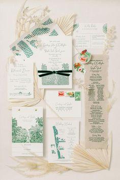 The Most Epic Captiva Island Wedding Stationery Design, Wedding Stationery, Wedding Invitations, Invites, Destin Florida Wedding, Private Estate Wedding, Captiva Island, Tropical Style, Island Weddings