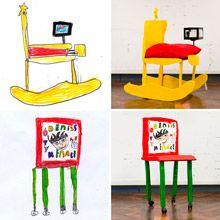 Dupla de designers criaram um projeto infantil que visa transformar desenhos de móveis de crianças de 8 anos em peças reais.