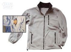 Campera básica polar con bolsillo Polaroid, Textiles, Leather Jacket, Jackets, Fashion, Pockets, Studded Leather Jacket, Down Jackets, Moda