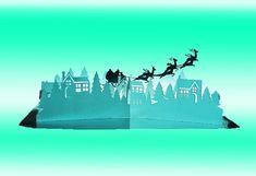Village de Noël Pop Up le modèle de carte