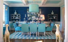 Determine the Best Paint Colors for Dining Rooms » Light blue dining set and blue paint color for dining room