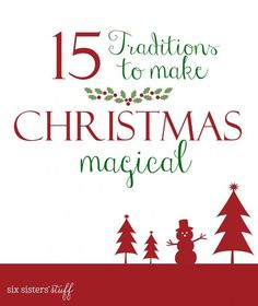 15 Traditions to start with your family to make Christmas Magical Christmas Morning, Little Christmas, Family Christmas, All Things Christmas, Christmas Holidays, Christmas Crafts, Christmas Ideas, Merry Christmas, Celebrating Christmas