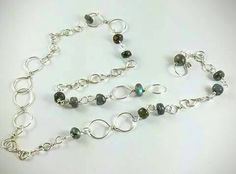 Check out this item in my Etsy shop https://www.etsy.com/listing/247203316/gemstone-chain-silver-necklace