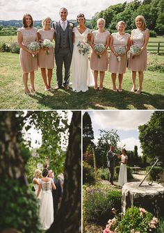 A Rustic Wedding At Hyde Barn With Bride In bespoke Jessica Charleston Gown and bridesmaid dresses by Ted Baker  with Wedding Photography by Sam Gibson_0010