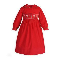 Classic Hand-Smocked Holiday Plaid Girls&-39- High-Waist Dress ...