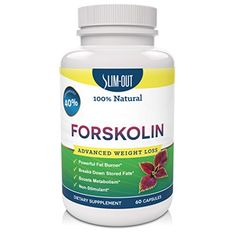 Amazing Pure Forskolin Extract - Weight Loss Supplement for Women and Men - Powerful Antioxidant - Suppresses Appetite - Belly Buster Booster - Standardized up to 40% - 300 Mg Per Serving - 60 Capsules - Guaranteed By Slimout
