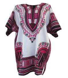 White African Dashiki White Dashiki Shirt Unisex by SissaFashions