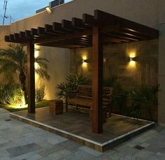 Backyard Seating, Backyard Patio Designs, Small Backyard Landscaping, Backyard Pergola, Pergola Designs, Garden Wall Designs, Terrace Garden Design, Vertical Garden Design, Modern Patio Design