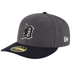 1d15f17d13221 Men s Detroit Tigers New Era Charcoal Navy Shader Melt 2 Low Profile  59FIFTY Fitted Hat