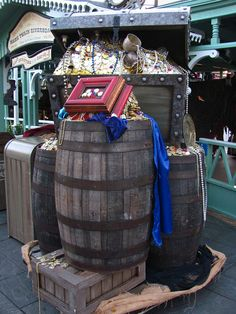 Pirate Wharf decorations for Mickey's Halloween Party by Loren Javier, via Flickr