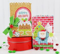 Christmas Gift Bags by Becki Adams - Easy Last Minute Gift Idea - Stamp & Scrapbook EXPO #ssbe2017 #beckiadams #christmas #giftbag #christmasgiftbags #lastminutegift