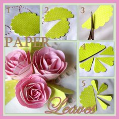 A Little Loveliness: Paper Rose Tutorial