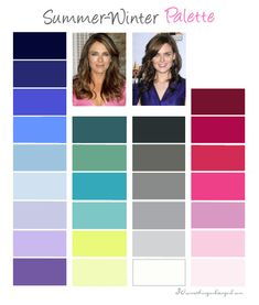 Cool Summer color palette: You are a Summer flowing into Winter. It means you have contrast on your face like Winters have but it is more delicate. Your dominant colors are cool so these and soft shades are your best friends. Your overall look is really classy and elegant.