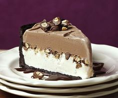 Chocolate-Peanut Ice Cream Cake... I am so going to use Reese's peanut butter cups instead of peanuts!!!