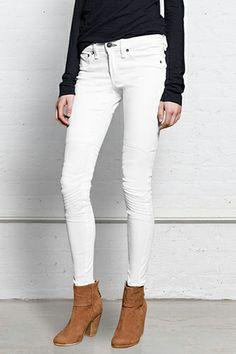 White Jeans - Spring Denim: Rag & Bone Samurai Legging  $209