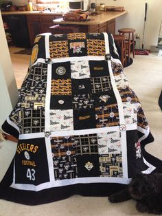 Pittsburgh Steelers--Pirates--penguins quilt