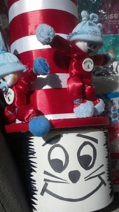 Dr. Seuss' Thing 1 Thing 2 diaper cake topper by Bumble Bee Creations