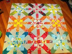 supernova quilt blocks | can't wait to get the borders on! You can see other photos in the ...