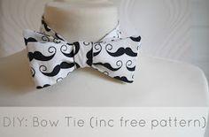 Miss P: DIY: Bow Tie (tutorial + free pdf pattern + a giveaway!!)...