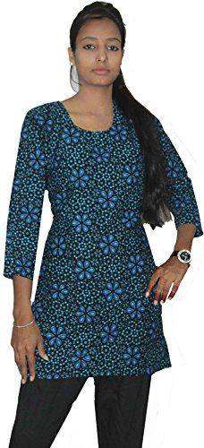 Lakkar Haveli Indian Women Cotton Top Tunic with Satin Silk Patiyala Slawar Set Violet Color