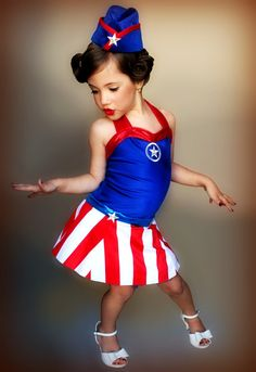 Costume as it s impossible to find a pin up costume for a 4 year old
