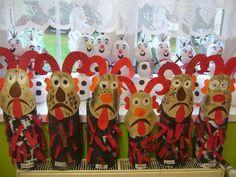 forrás: Fb Angel And Devil, Handprint Art, Christmas Crafts, Christmas Ornaments, Kindergarten Art, Advent, My Children, Carnival, Crafts For Kids