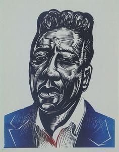 Muddy Waters II - Relief-block print, The Alcorn Studio & Gallery