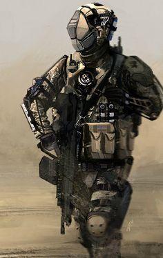 Dyna-Tec Industries American Soldier, Dom Lay on ArtStation at https://www.artstation.com/artwork/WB91v