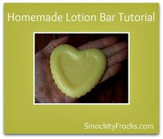 I just found this Homemade Lotion Bar Tutorial at Smockity Frocks --http://www.smockityfrocks.com/2012/08/make-your-own-soothing-lotion-bars.html# . It's easy enough that my kids could make it for gifts.