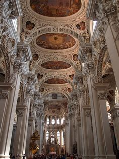 Beautiful baroque architecture at St. Stephan's Cathedral in Passau, Germany (by Martin van Duijn).