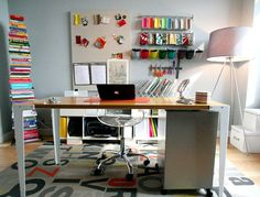 Modern Colorful Home Office