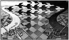 Escher vogelvlucht-perspectief