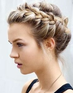 Side Bun with Double Loose Braid - 40 Two French Braid Hairstyles for Your Perfect Looks - The Trending Hairstyle French Braid Hairstyles, Braided Hairstyles For Wedding, Braids For Short Hair, Box Braids Hairstyles, French Braids, Braided Updo, Bridesmaid Hairstyles, Wedding Updo, French Twists